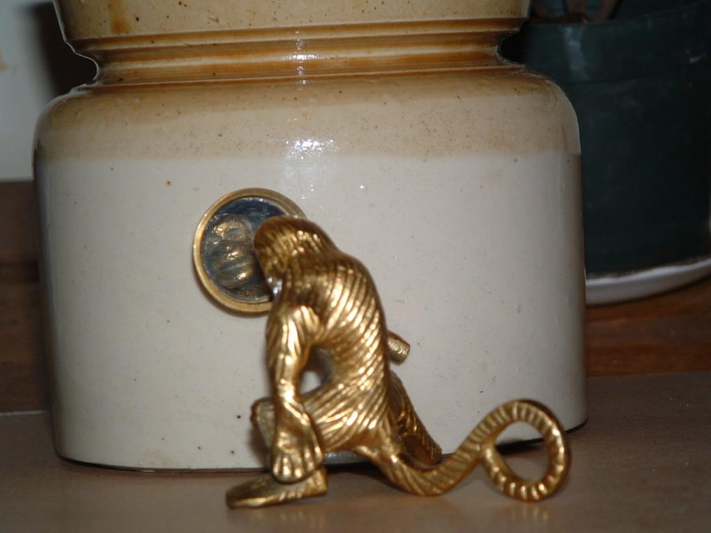 Brass monkey in mirror 2
