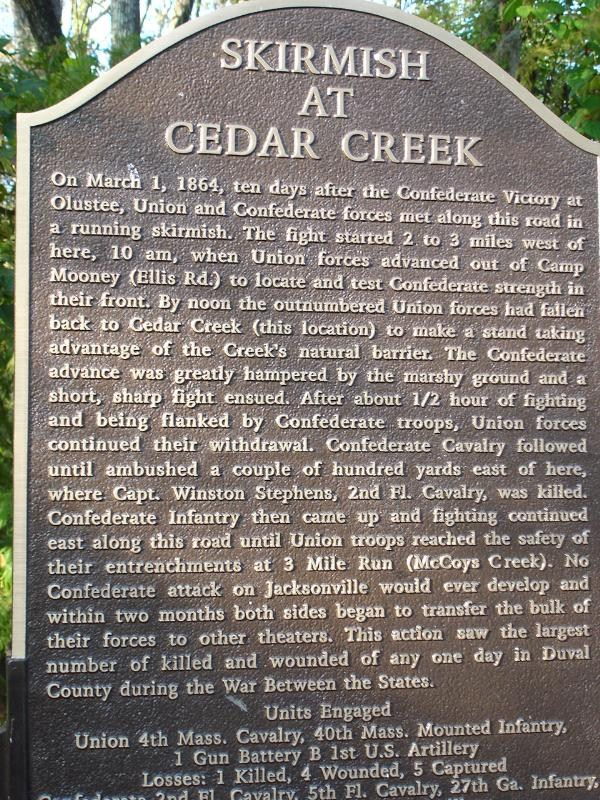 Skirmish At Cedar Creek