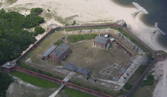 Fort Clinch Aerial
